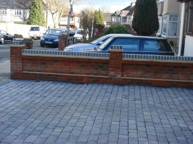 walling and driveway